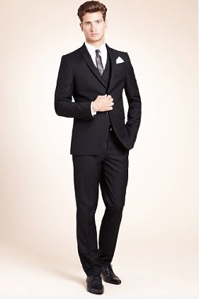 Limited Collection Slim Fit 2 Button Suit - Slim Suits for Men