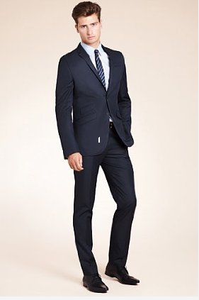 Limited Collection Super Slim Fit 2 Button Plain Suit - Slim Suits ...